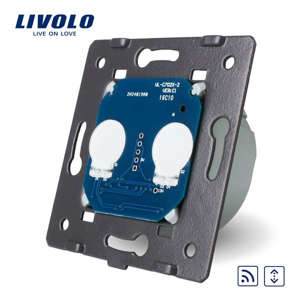 Livolo Manufacturer, EU Standard, The Base Of Touch House Home Led Remote Curtains Switch, AC 220~250V,Without Glass Panel
