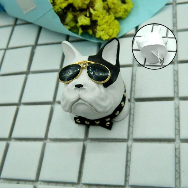 Yeni Bulldog Araç Dekorasyon Alçı Araba Çıkış Hava Yağ Parfüm Klip Küçük Ve Narin Benzersiz Stil