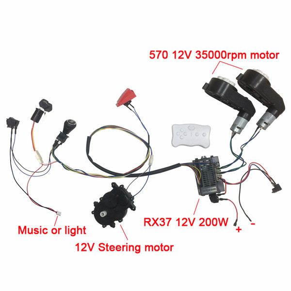 top popular Children electric car DIY accessories wires and gearbox,Self-made toy car full set of parts for electric car kids ride on 2021
