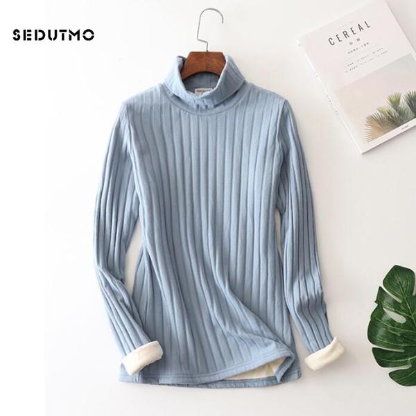 Sedutmo Winter Plus Size 5xl T Shirt Women Velvet Warm Long Sleeve Tops Harajuku Loose Shirts White Casual Thick Tee Ed398 S19715