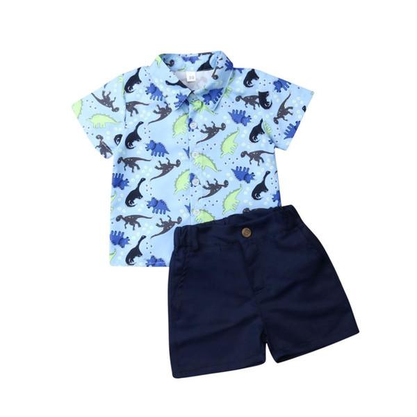 Shorts Kids Clothes Outfits Set 2PCS Toddler Baby Boys Gentleman T-Shirt Tops