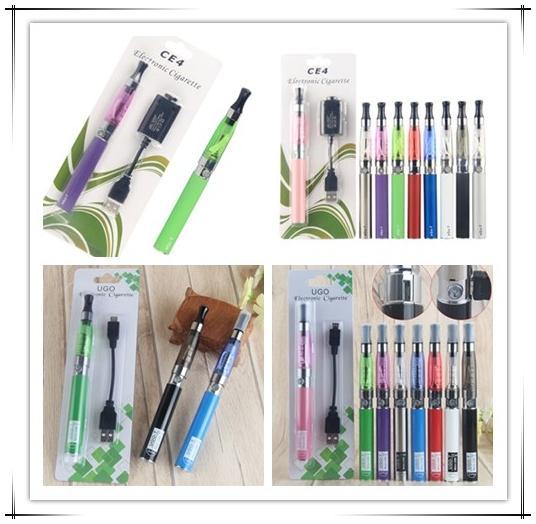 Vaper Ego T CE4 CE 4 Kit caricabatterie blister per sigaretta elettronica caricatore di vaporizzatore con batteria UGO Micro USB 510 filo da 900 1100 mAh