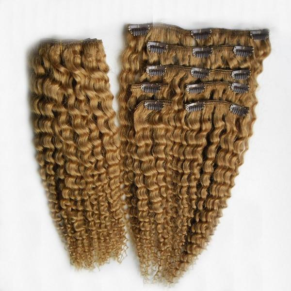 Bleach Blonde Color 6a Перуанский зажим для наращивания волос 100% человеческих волос 10-30 дюймов девственница в странных вьющихся волосах