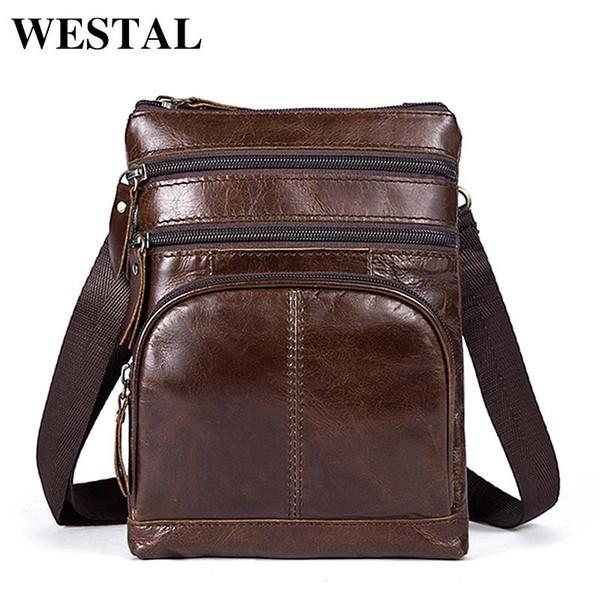 Compre WESTAL Bolsos Para Hombres Hombres Pequeños Para Hombres Bolso Bandolera De Cuero Bolso Bandolera Para Hombres Cuero Genuino Para Hombres