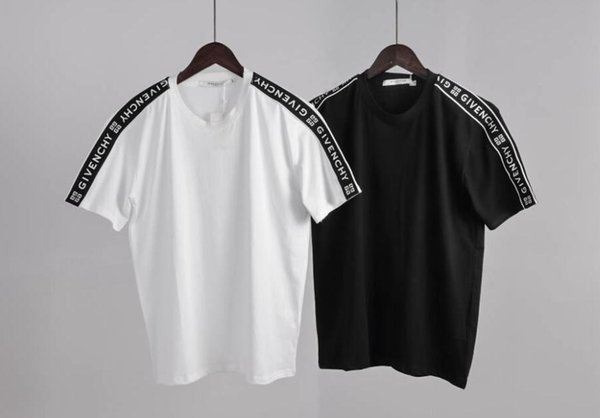 a9d59bcb0 BrandQuality Mens Womens Brand Design Black White T Shirt Off Size S-XXL  Crew Neck Cotton Tops Tshirt Embroidery Clothing
