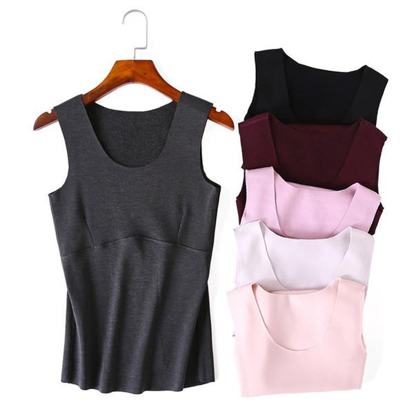 Winter super warm Fever fiber sleep tops women Seamless abdomen mulberry silk warm vest underwear tops dralon bottoming shirts