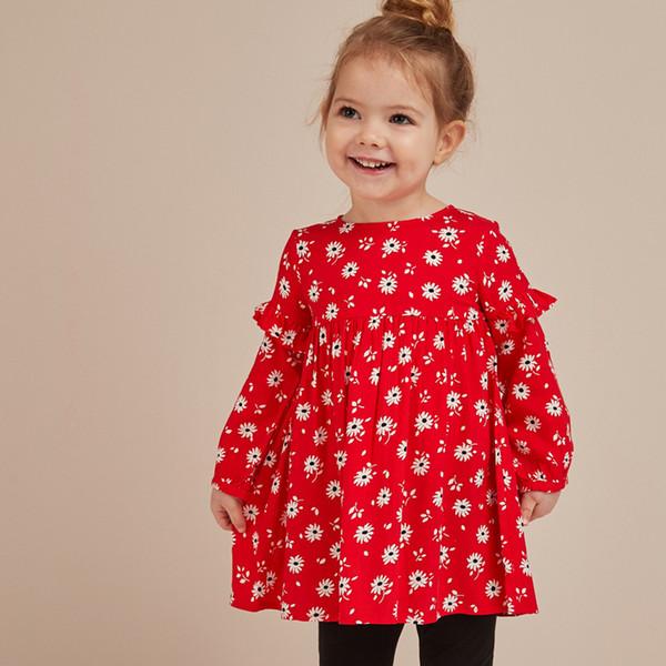Enfants Retour à l'école Robe Coton Licorne Vêtements pour Filles Robe de soirée Tunique Casual Enfants Robe pour Bébé Vêtements 2-7ans LIVRAISON GRATUITE