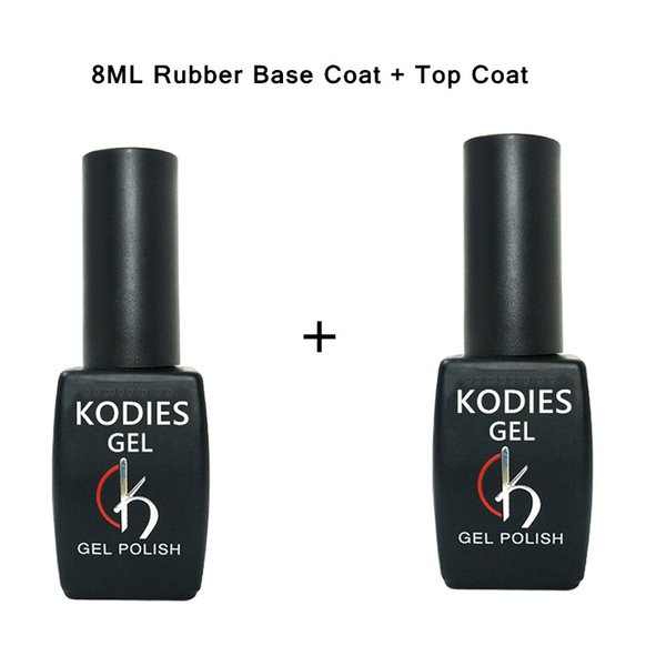 1 PCS Escudo KODIES Base de goma Top Coat Esmalte en gel semi permanente Vernis UV LED Sin Wipe Base de Maquillaje Primer Gel laca de uñas Arte