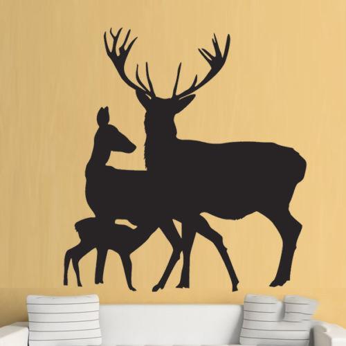 Deer Stag Animal Hall Living Room Wall Art Stickers Decals Vinyl Home Decor Head Kids Room Art Decoration