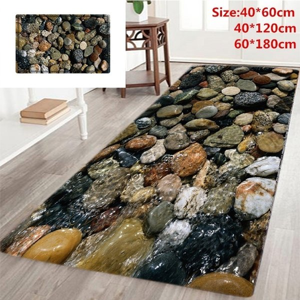 Home Living 3D Stone Road Printed Non Slip Rugs Hallway Carpets, Kitchen,  Bathroom SOFT FOAM Runner Mat Rug Commercial Grade Area Rugs Carpet Tile ...