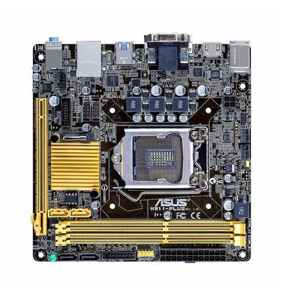 Ursprüngliches Motherboard ASUS H81I-PLUS LGA 1150 DDR3 16 GB USB2.0 USB3.0 Mini ITX HTPC Computer Mainboard H81 Desktop-Motherboard