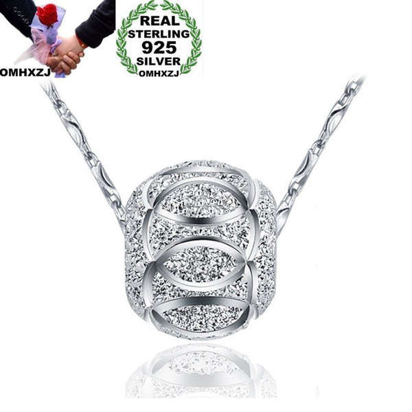 Fashion silver Party Wedding bead pendant necklace charms women jewelry 925