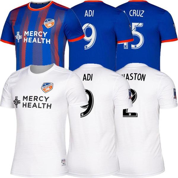 Size:S-XXL 2019 2020 FC Cincinnati soccer jersey 19 20 Thai quality MLS GARZA WASTON BERTONE ADI A.CRUZ football jerseys shirt