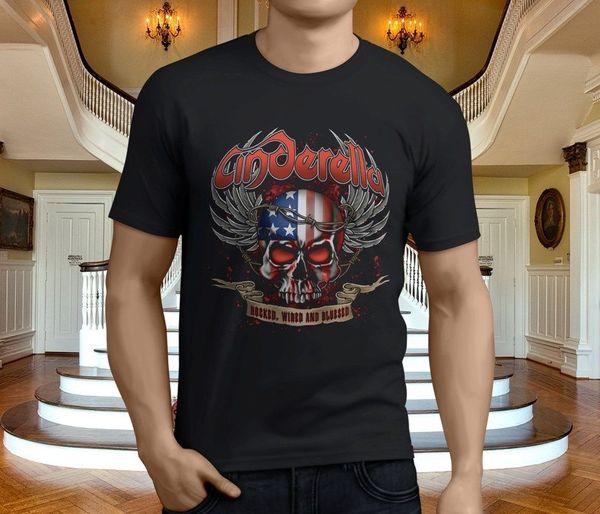 Femininos New Popular Cinderella metal Black Rock T-Shirt Tamanho S-3XL Tops Homens T Shirt Hot 2018 FashionLatest