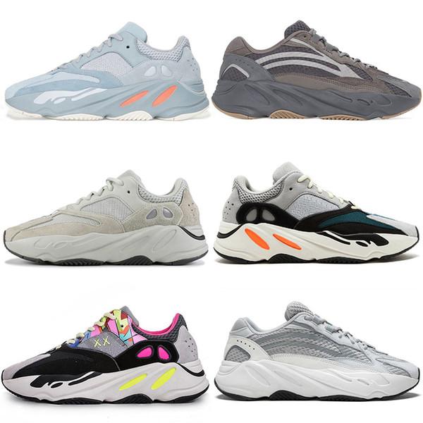 2019 Geode Inertia Wave Runner 700 Schuhe v2 statische 3M-Turnschuhe Kanye West Schwarz Grüner weißer Kupferstreifen aus Outdoor-Sportschuhen