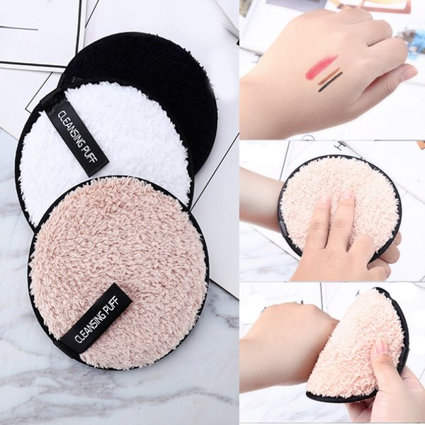 top popular Make up remover promotes healthy Cleansing Makeup skin Microfiber Cloth Pads Remover Towel Face lazy cleansing powder puff X425 2021