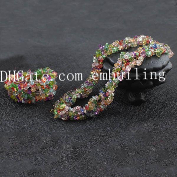 colorful crackle quartz