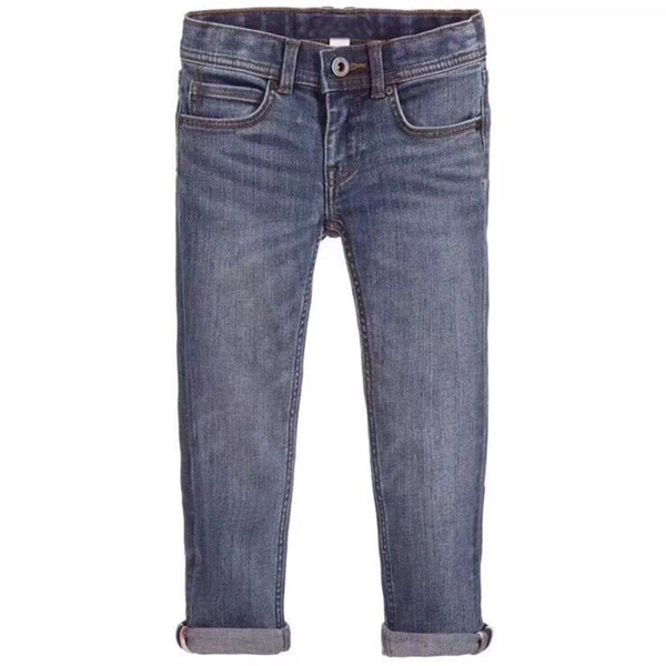 Children Jeans Pants Boys Spring/Autumn Fashion Casual Mid-Waist Trousers For Kids height 90-140cm in late Jan