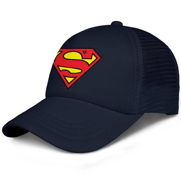 Coaster superman logo kids baseball caps Casual Teen baseball cap Dyed dark blue cap cute baseball caps hats