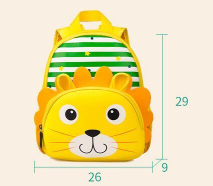 Joyloading 3D Cute Cartoon Animals Face Design Kids Backpack Schoolbag Children 1-5 Years Baby Pack