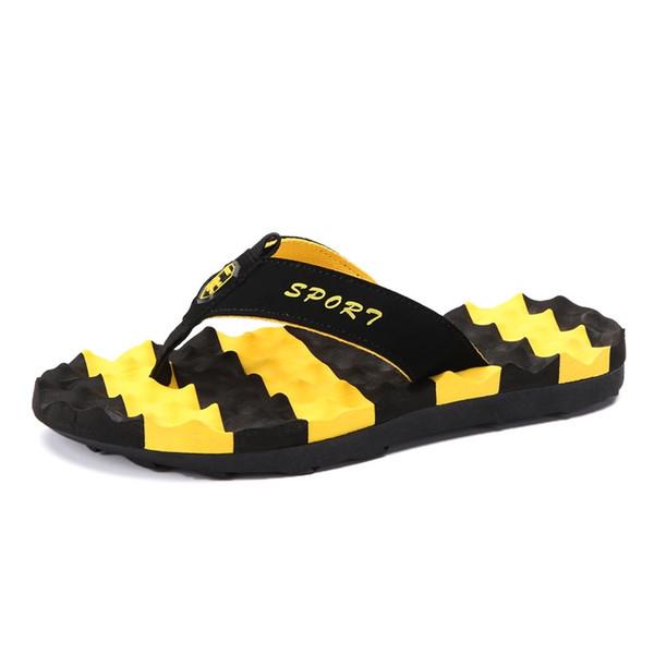 Tamaño grande zapatillas de verano Flip Flop zapatos moda hombre sandalias marca hombre zapatillas de masaje zapatos de diapositivas de playa zapatos de agua