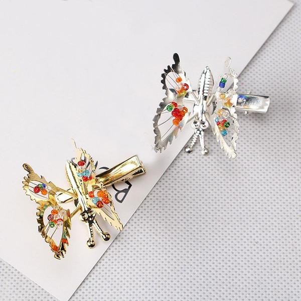 Perle Metall Kleine Schmetterling Hairgrip Nette Kindheit Für Frauen Mädchen Haarnadeln Haarschmuck Ornamente Haarspangen