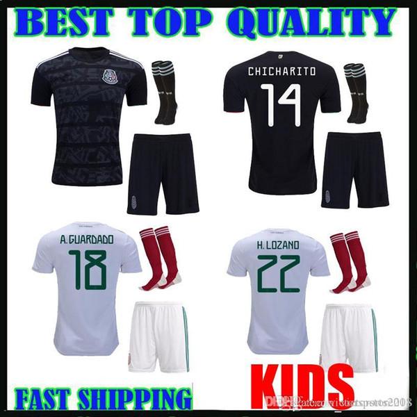 bd1d96f8106 KIDS KIT 2019 Mexico soccer jersey 19 20 Camisetas CHICHARITO LOZANO  MARQUEZ DOS SANTOS HERRERA GUARDADO