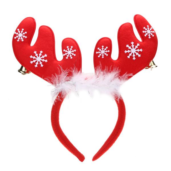 Joyeux Noël Ornements Cloche Plume Décorations Antlers De Noël Bandeau Partie Unique Design Gifts navidad