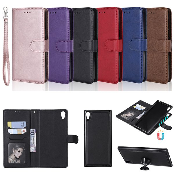 Detachable 2in1 Leather Wallet Case For Sony Xperia Z3 Compact XA1 Ultra XZS XR E6 L1 C6 XA Ultra XZ Premium Phone Cover A128