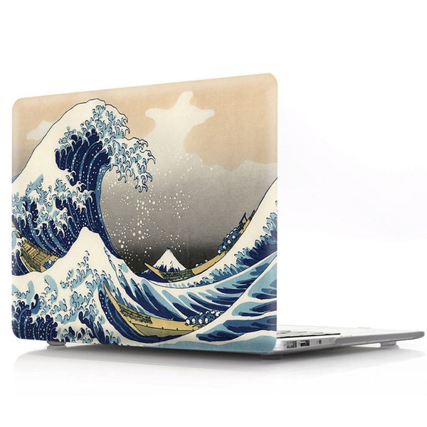 Wave Flower Pattern Hard Case Compatible With MacBook Air 13 (A1932) Laptop Case for MacBook pro13/15 with touch bar