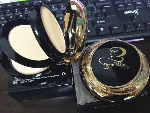 HOT Brand Makeup M &AC Double-Layer Foundation Face Setting Compact Powder Concealer fond de teint Kit