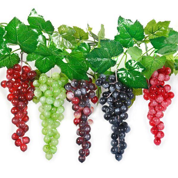 36 Grapes Bunches Artificial Fruit Grape Plastic Fake Fruit Lifelike Home Wedding Party Garden Decoration Mini Simulation Fruit