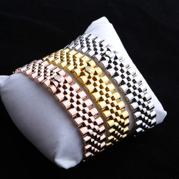 Yüksek kaliteli paslanmaz çelik zincir bilezik moda tasarımcısı takı kadın aksesuarları altın bilezik bilezik mens