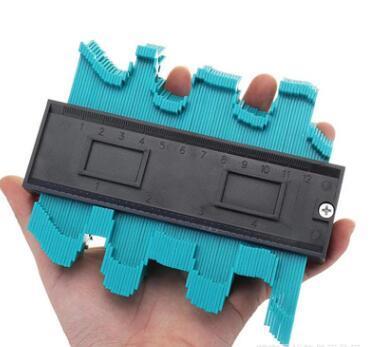 best selling 5 inch Contour gauge multi-purpose woodworking tools irregular contour gauge arc scale profile gauge