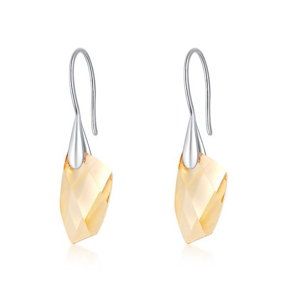 New Pattern Fashion Glittering Water Drop Crystal Earrings Eardrop Ma'am Zr Stone Eardrop Earrings Ornaments