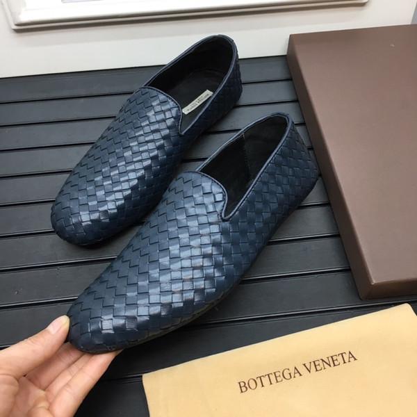Vendita calda nel 2019 Scarpe firmate da uomo di lusso Scarpe da uomo da uomo di lusso per matrimoni Business Office Tessuto da uomo in vera pelle Scarpe casual da uomo