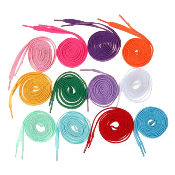12 paia di lacci colorati in nylon arcobaleno lacci per scarpe piatti multicolori stringhe corde corde scarpe sportive accessori per scarpe da ginnastica