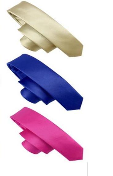 Free Shipping 2015 New Style Wedding Party Groom Men\'s Solid Color Gravata Slim Plain Men Tie Necktie 30 Colors