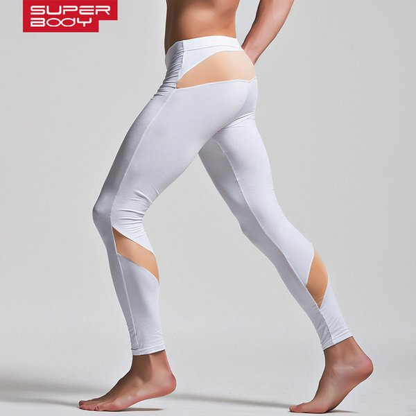 Superbody Men Thermal Underwear for Sports Compression Mens Leggings Sexy Long Johns Tights Thermo Long Underpants Spandex Brand