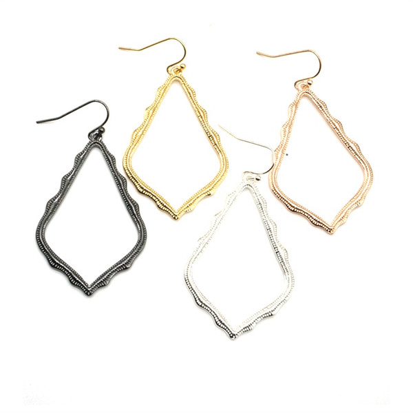 best selling Style Hollow Waterdrop Frame Earrings Fashion Dangle Earrings for Women Party Gift