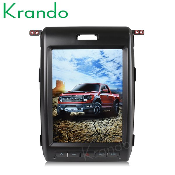 "Krando Android 6.0 12.1"" tesla style Vertical screen car DVD radio player GPS navigation for Ford F150 F-150 2009-2014 multimedia KD-FV203"