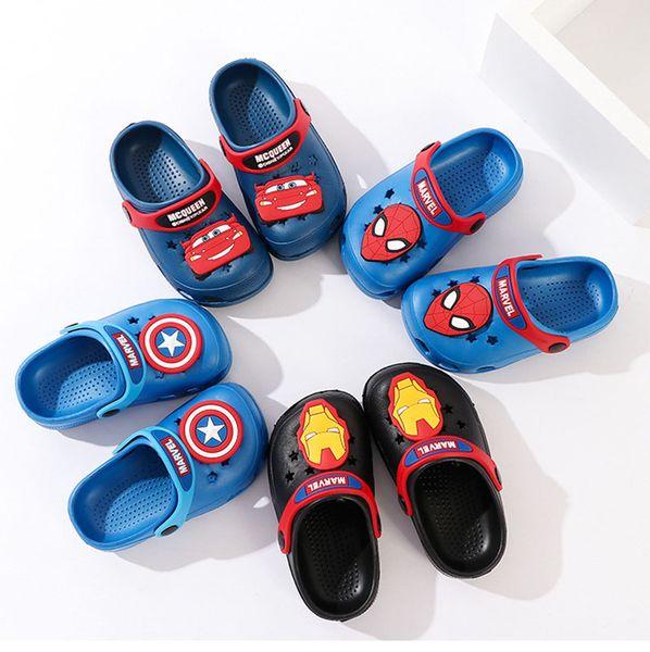 fbe747f8ad67c6 Kids Brand Designer Marvel Avengers Super Hero Shoes Ragazzi EVA Cartoon  Sandali Bambini Capitano spider-