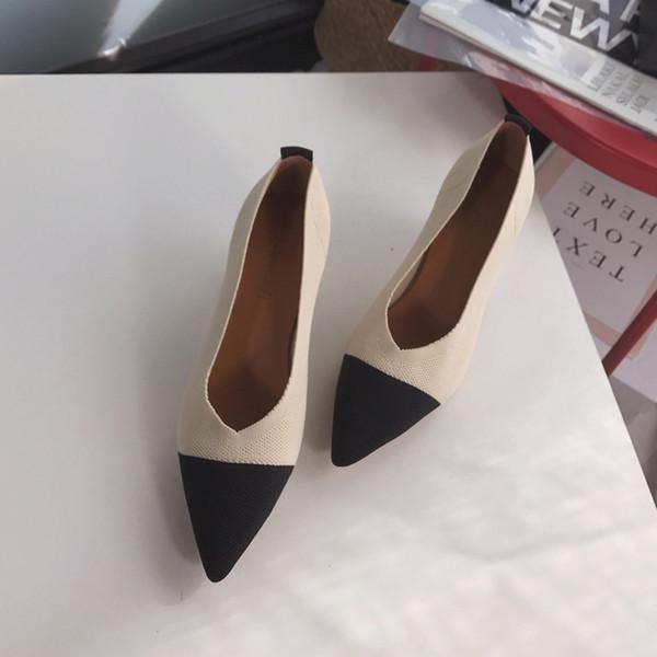 2019 Outono Feminino Sandálias Apontou Senhora Sexy de Salto Alto Preto com Grosso com Selvagem Único Mulheres Sapatos Sandalias Femeninas