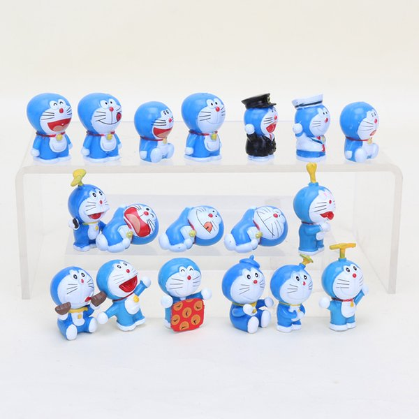 pvc action figure 3cm Anime Cartoon Dolls kawaii Doraemon Mini Cat PVC action Figure Model Dolls toys brinquedos kids Gifts