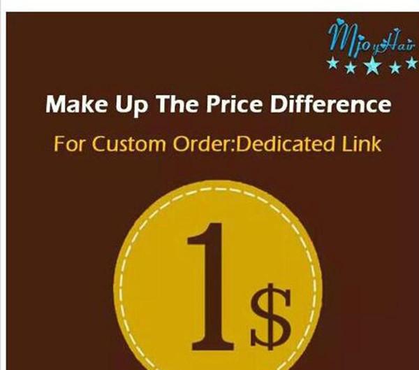 Compõem o transporte dedicado ligação Diferença de Preço Make up patchs socar a diferença Mjoyhair um link dedicado