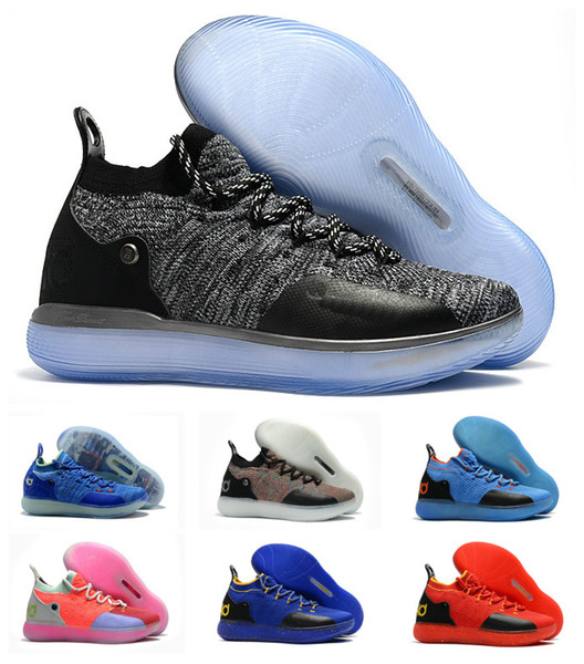 New Boys Kids Kevin Durant KD 11 11S Multi-Color KD11 XI Trainers Zoom Youth Girls Women Basketball Shoes X Elite Mid Sport Sneakers 36-40