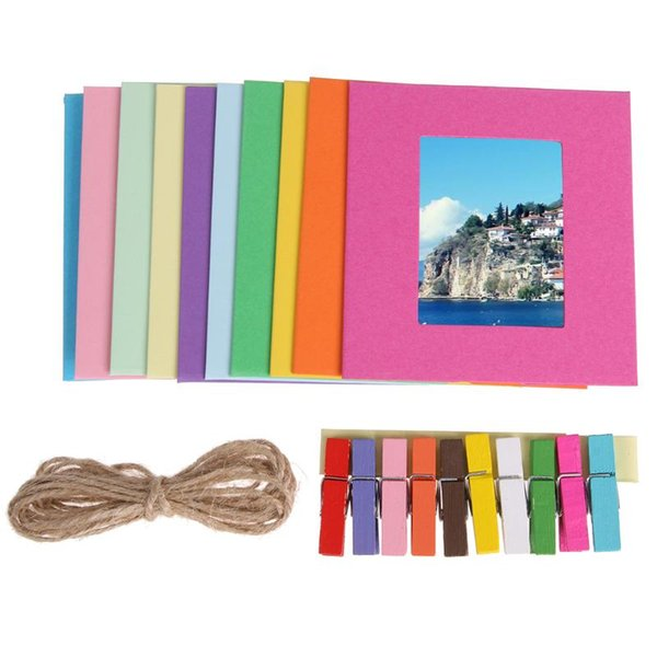 3/5/6/7inch DIY Kraft Paper Photo Album Wall Hanging Photo Frame for Pictures Home Decoration Wedding Frame