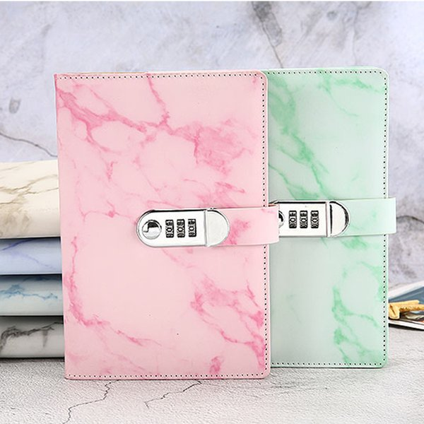 New School Notebook Paper 100 Sheets Personal Diary With Lock Code Thick Notepad Leather Office School Supplies Gift