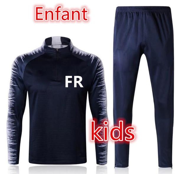 Maillot de foot survetement kids soccer tracksuit 2018-2019 Survêtement de football mbappe POGBA GRIEZMANN child football training suit