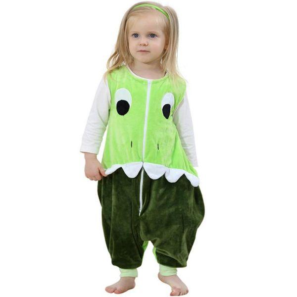 Green Baby Sleeping Bag Sleeveless Sleep Sack Cotton Baby Sleeper Leg Sleep Sack for Toddler 1-3 Years